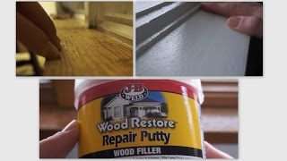 Repair Wood Trim Cat Scratches using Wood Filler