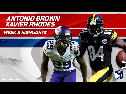 Antonio Brown Battles Xavier Rhodes! | Vikings vs. Steelers | NFL Wk 2 Player Highlights