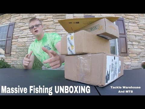 Massive Fishing Tackle UNBOXING - MTB of September 2016 & Tackle Warehouse