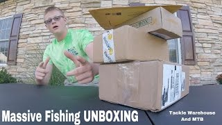 massive fishing tackle unboxing mtb of september 2016 tackle warehouse