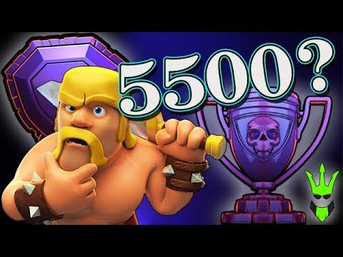 CAN I GET TO 5500 CUPS? - TH10 Legends Pushing - Clash of Clans (BabyLoon Trophy Pushing)