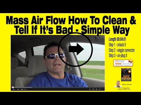 How to | Tell If You Really Need a Mass Air Flow Sensor | Auto Repair | Wesley Harrison | Clean|MAF