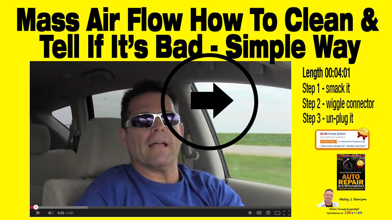 hight resolution of how to tell if you really need a mass air flow sensor auto repair wesley harrison clean maf youtube