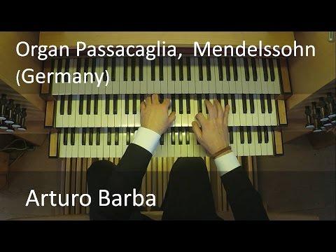 Mendelssohn, Passacaglia in C minor. Arturo Barba, Eisenbarth Organ (Germany)