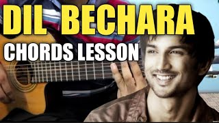 Dil Bechara - Title Track Guitar Chords Lesson | Sushant Singh Rajpoot | A.R. Rehman |