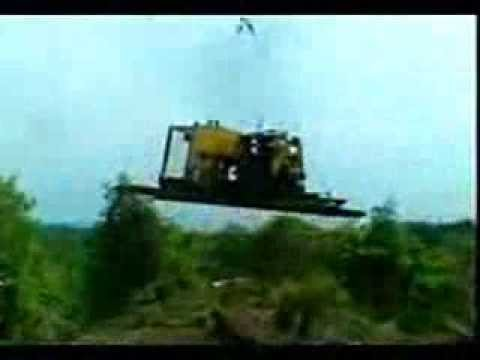 Drilling Land RIG Equipment Move by Helicopter