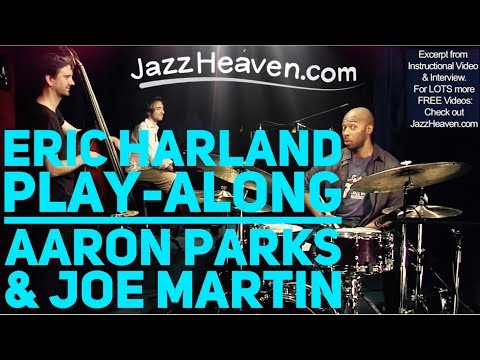 "Eric Harland Trio Blues with Aaron Parks & Joe Martin JazzHeaven.com ""Jazz Drumming"" Video"