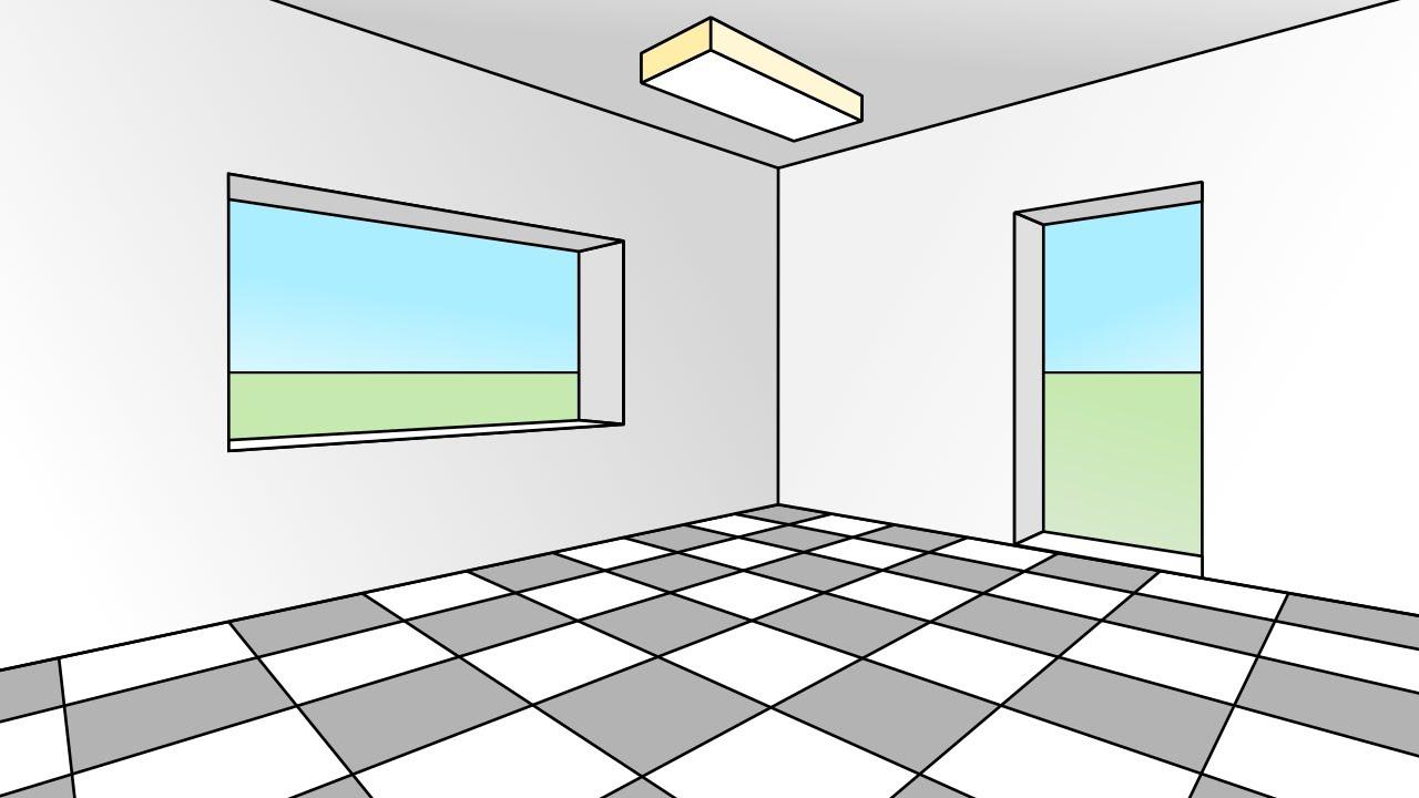 Prospettiva Centrale E Accidentale prospettiva accidentale #4 stanza metodo diretto. room in angular  perspective