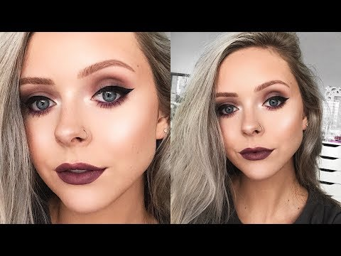 COOL TONED FALL MAKEUP LOOK | Monochromatic