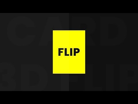 CSS 3D Flip Card Hover Effects | Beginners