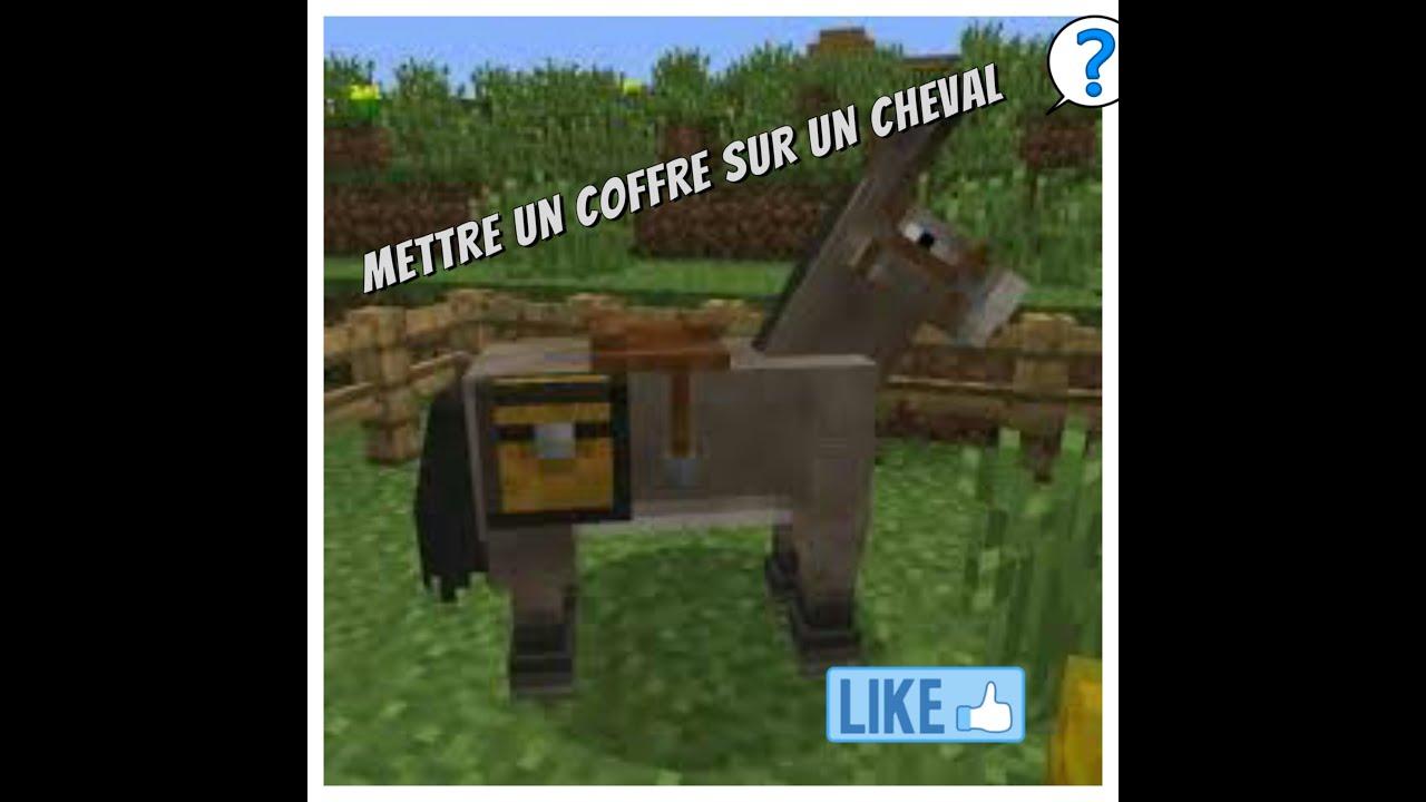 Comment mettre un coffre sur un cheval sur Minecraft PE 0