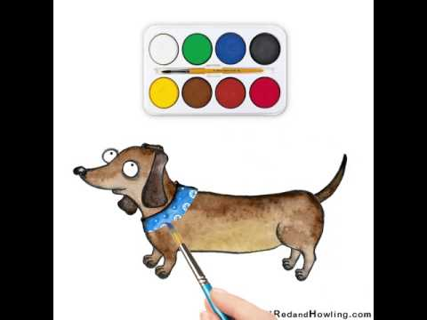 Animated cartoon: Drawing the dog