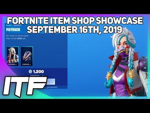 Fortnite Item Shop *NEW* PAYBACK SET! [September 16th, 2019] (Fortnite Battle Royale)