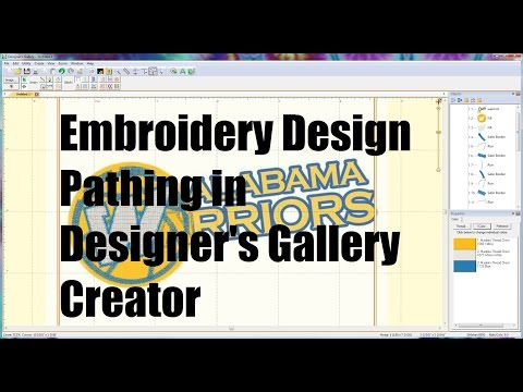 Embroidery Digitizing Pathing Designer S Gallery Creator Stitchartist Youtube