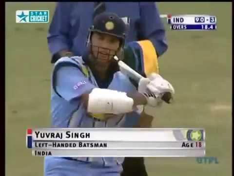 Image result for yuvraj singh first match