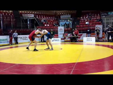 2016 Canadian Junior Championships: 74 kg Trent Siemens vs. Jake Michaelis