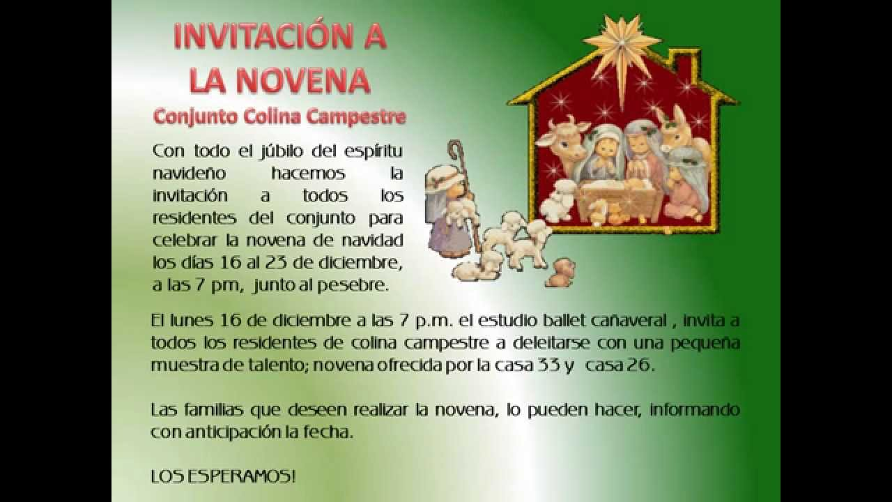 Invitacion Virtual Navideña Youtube
