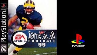 NCAA Football 99 (Sony Playstation) Florida St. vs Tennessee (Gameplay) The PS1 Files