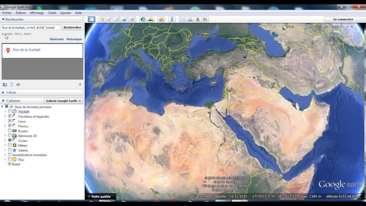 The Ferst Time Google Earth El Kef Tunisia