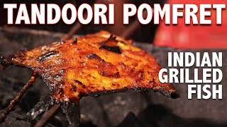 DELICIOUS Tandoori Pomfret (Indian Grilled Fish) | Seafood Special