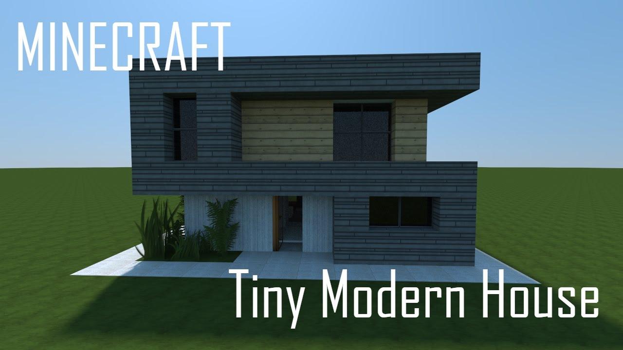 Tiny Modern House Minecraft minecraft tiny modern house (full interior) + download - youtube