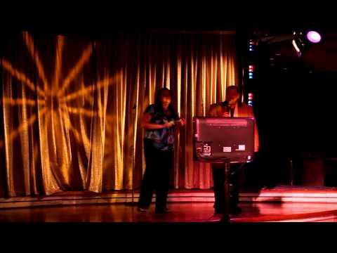 Karaoke with Sam on RCI cruise 2010