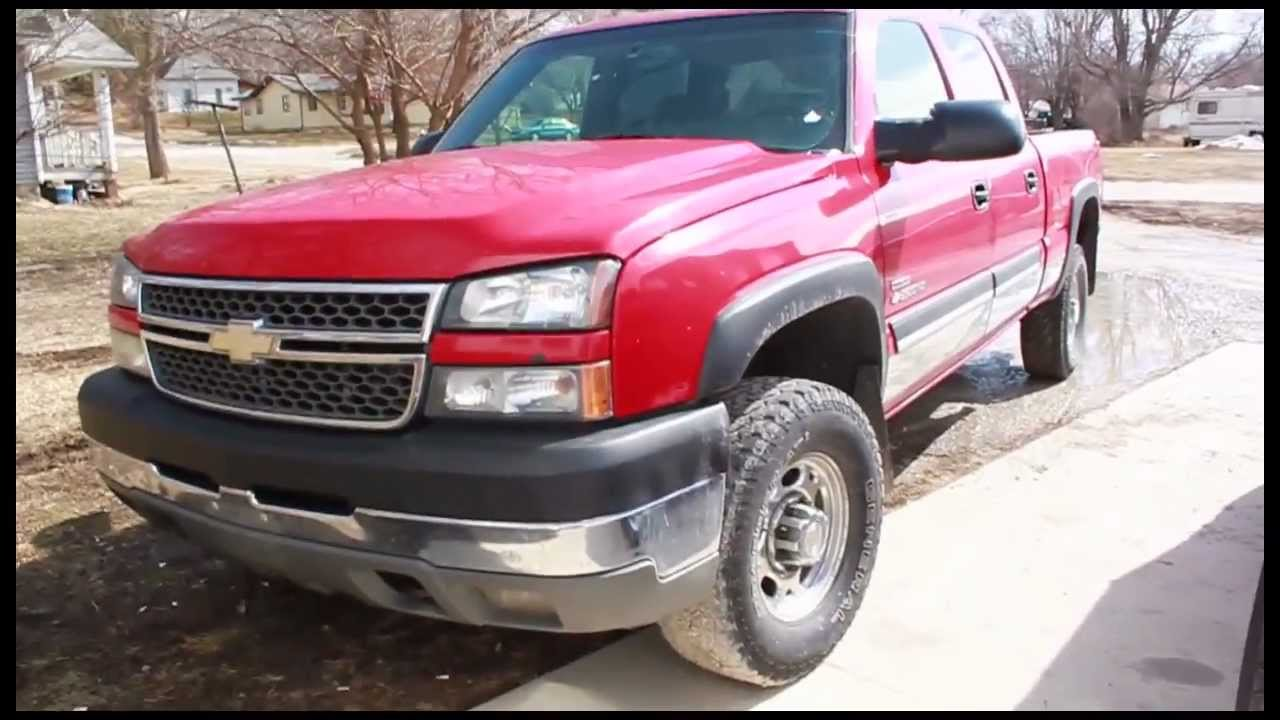 2005 chevy silverado crew cab duramax diesel 4x4 truck for sale youtube. Black Bedroom Furniture Sets. Home Design Ideas