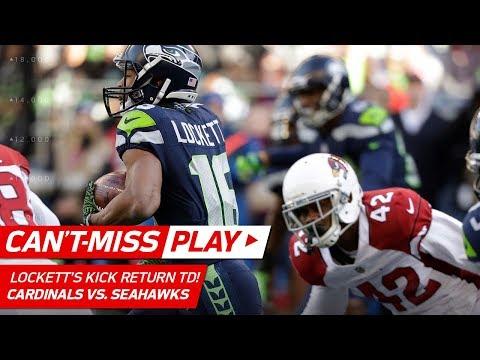 Tyler Lockett's Lightning Fast Kick Return TD vs. Arizona | Can't-Miss Play | NFL Wk 17 Highlights