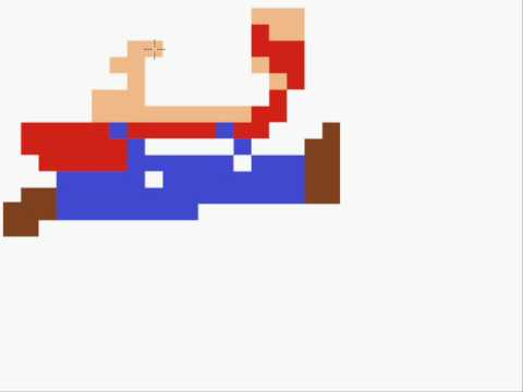 How to draw an 8 bit mario jumping youtube - Pictures of 8 bit mario ...