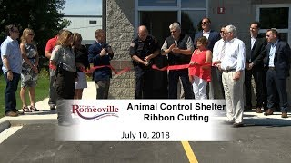 Village of Romeoville Ribbon Cutting 2018 - Animal Control Shelter