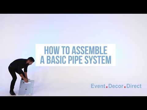 How To Install A Basic Pipe and Drape Backdrop