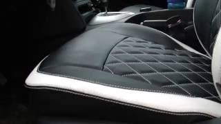 видео Чехол на Ниссан Кашкай (ЭКОкожа + перфорация) серые кирпичи