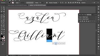 How to Access Alternative Glyphs in illustrator-Azalea.otf
