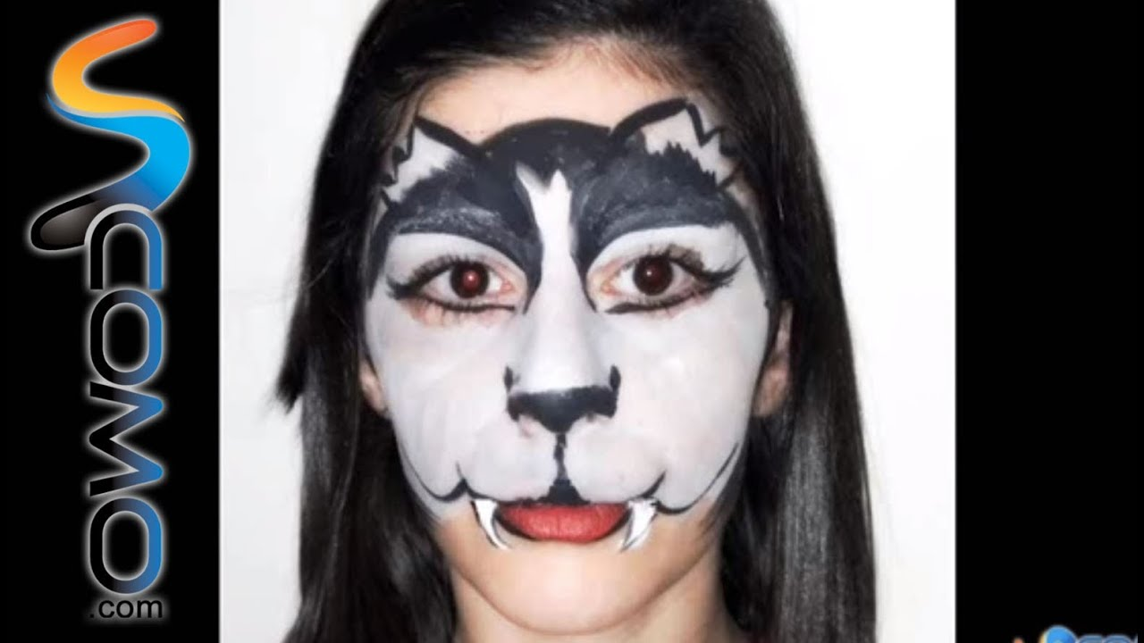 maquillaje de lobo sencillo