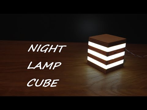 HOW TO MAKE LED NIGHT LAMP  CUBE