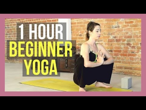 1 Hour Beginner Yoga Flow - All Levels Yoga for Strength & Flexibility