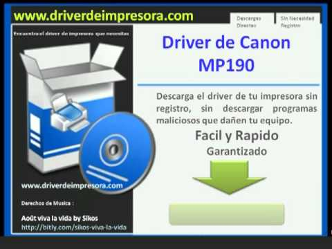 Canon pixma mp190 driver downloads.