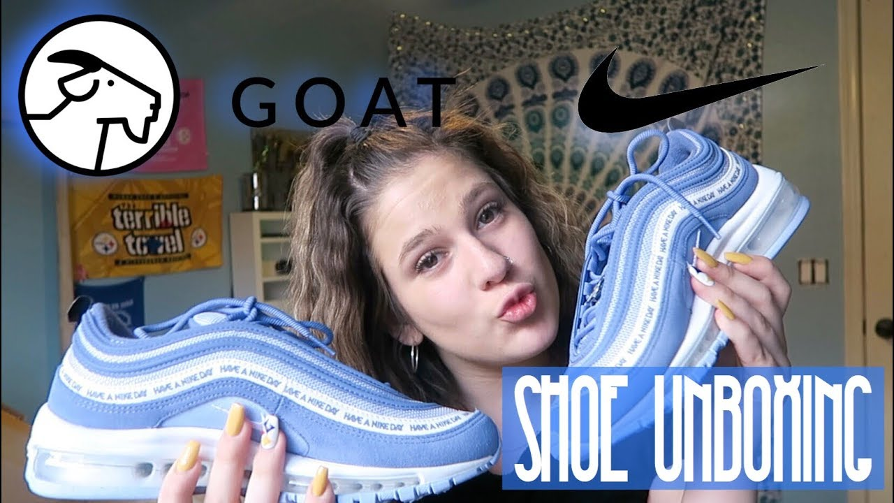outlet shopping new concept GOAT SHOOE UNBOXING!!! (Have A Nike Day Airmax 97)