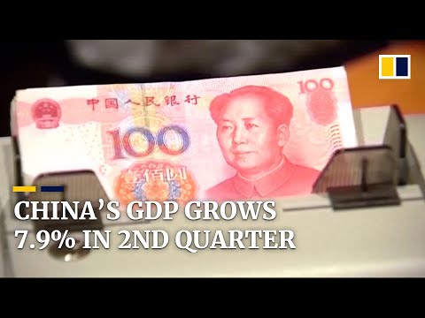 China's economy rose 7.9 per cent year on year in the second quarter of 2021