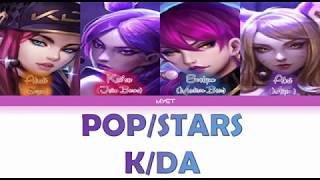 (INDO) K/DA - 'POP/STARS' (G-IDLE, Madison Beer, Jaira Burns) Lyrics HAN|ROM|INDO]