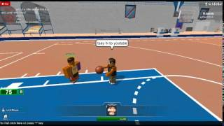 Playing Roblox (Realistic Basketball 2) Practice