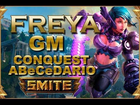 SMITE! Freya, Con mute todo va mejor! GM Conquest Abecedario #27