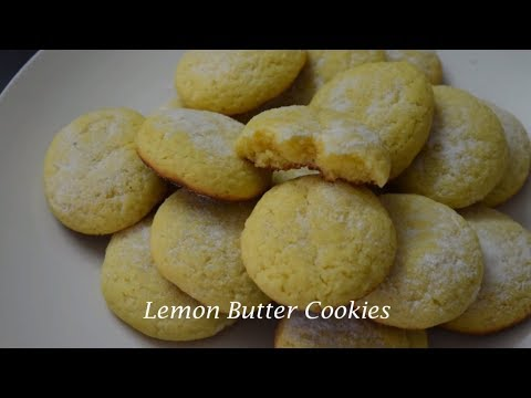Lemon Butter Cookies | Sweet & Tangy | Tea Time Snack | Easy Lemon Cookie Recipe