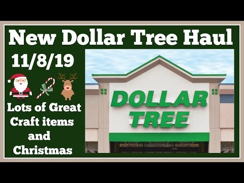 New Dollar Tree Haul 🤑 11/8/19 New items and Craft items.