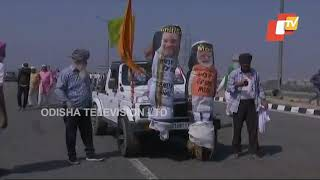 Farmers Protest At Perepheral Expresswat At Sonipat-Haryana Border