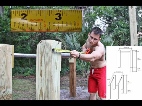DIY Pull-up Bar/ Parallel Bar MEASUREMENTS And SIZE!