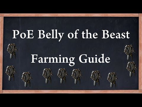PoE Belly of the Beast Unique Full Wyrmscale Farming, 6 Link