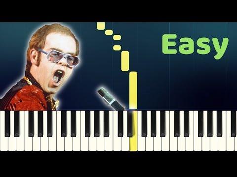 Elton John - PHILADELPHIA FREEDOM - Easy Piano Tutorial - Melody only with SHEET MUSIC thumbnail