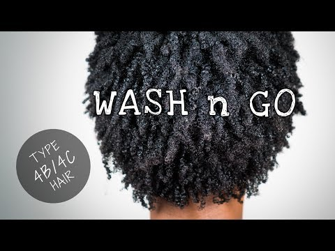 Dry Wash n Go On Short Natural Hair (DEFINED) (4B/4C Hair Texture)
