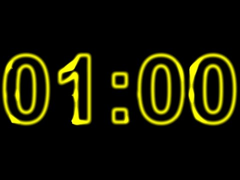 1 Minute Timer Yellow with Dance Music